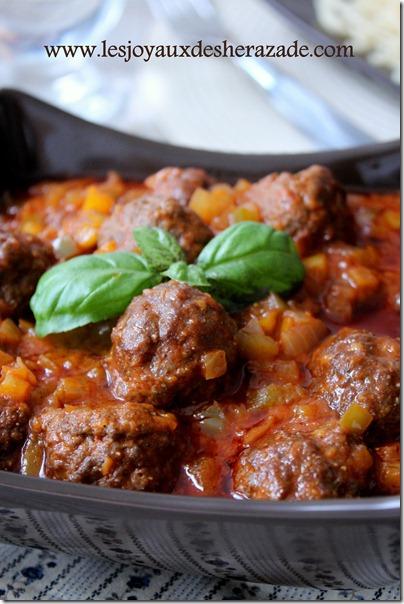 Recette de viande hach e boulette thumb - Boulette de viande en sauce ...