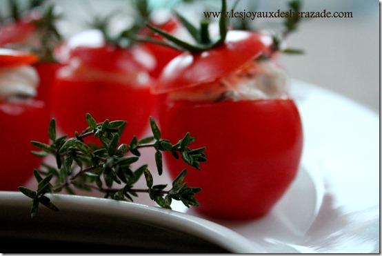 recette tomate en apéritif, farcie à la creme de thym