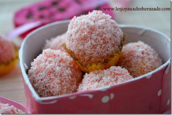 truffes abricot à la noix de coco