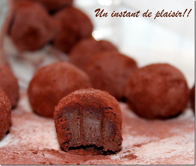 truffes au chocolat gourmand