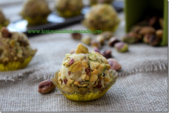 truffes chocolat blanc pistaches