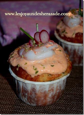 recette de cupcake aux crevettes et tarama