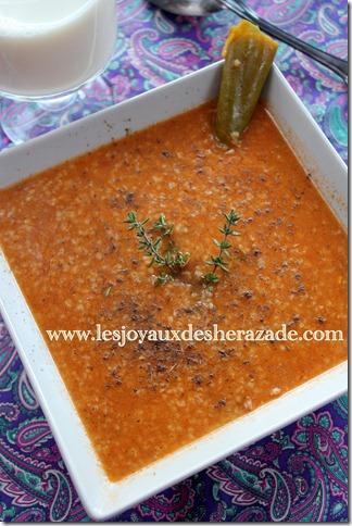soupe d'orge au thym
