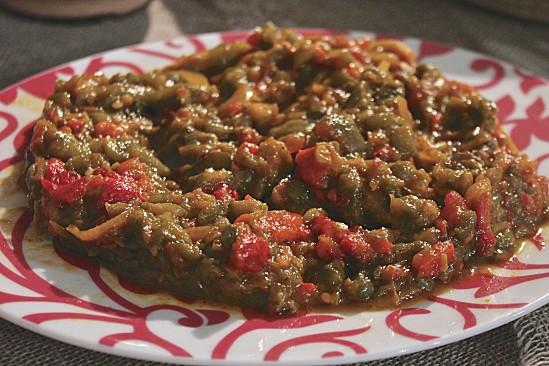 Salade mechouia, سلاطة مشوية