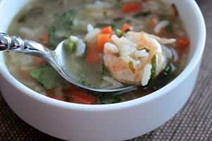 recette-de-soupe-aux-crevettes-riz1
