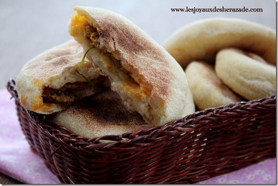 recette marocaine, batbouts farcis kefta