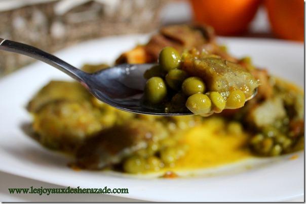 cuisine algerienne, mar9a aux petits pois مرقة جلبانة بالقرنون