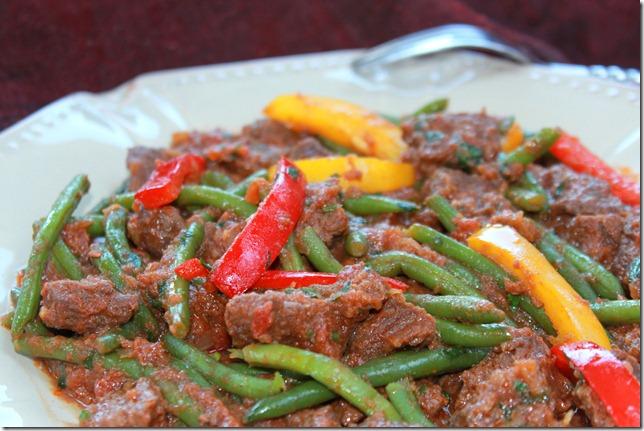 boeuf aux légumes plat indien