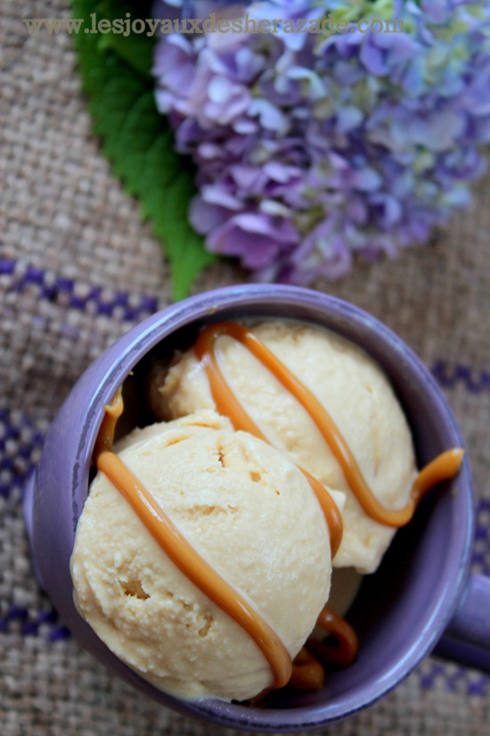 glace caramel maison, facile