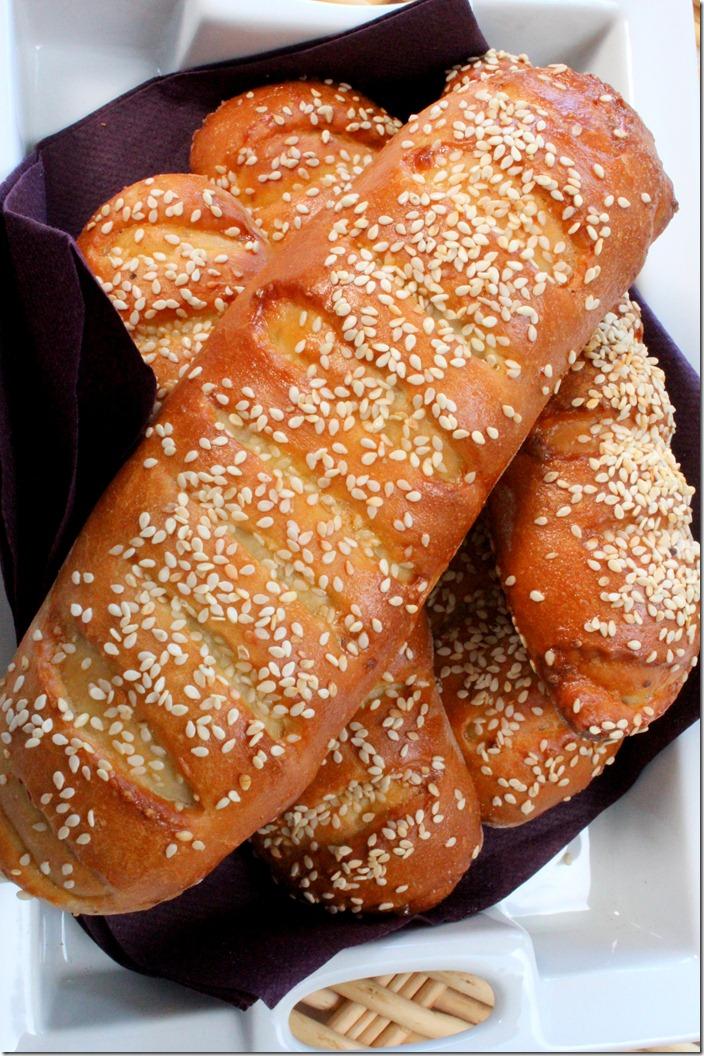 pain brioché à la viande hachée