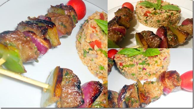 Brochettes de boeuf aux épices