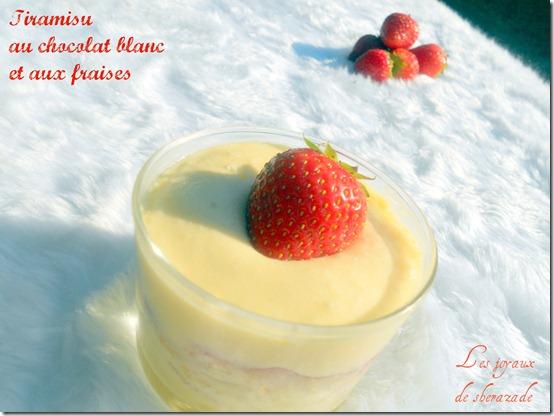 Tiramisu au chocolat blanc et aux fraises