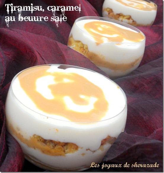 Tiramisu au caramel beurre salé et aux sablés bretons