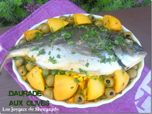 Daurade royale, recette de dorade aux olives