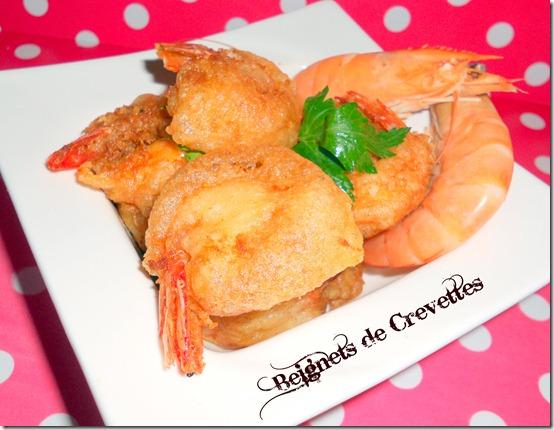 Beignets de crevettes (pâte à l'eau gazeuse)