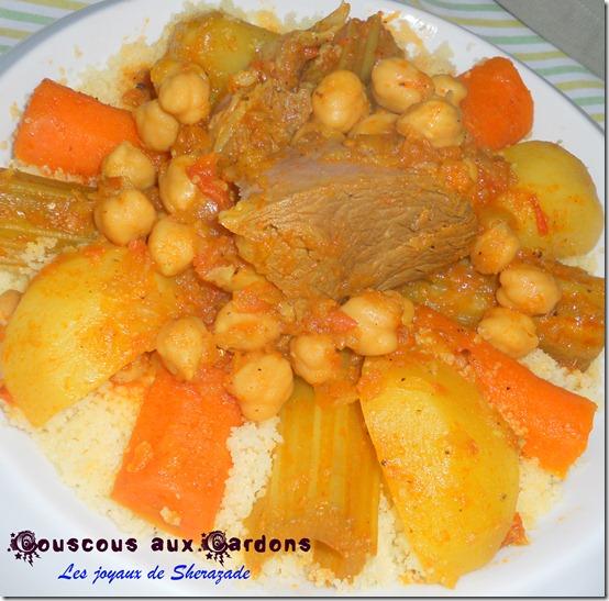 couscous aux cardons, couscous aux khourchefs