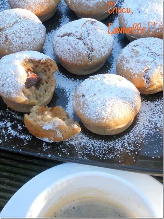 Muffins au chocolat et à la cannelle