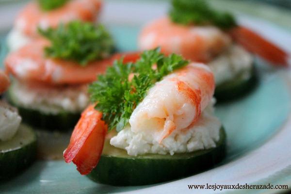 amuse bouche aux crevettes, apéritifs, apéro dinatoire