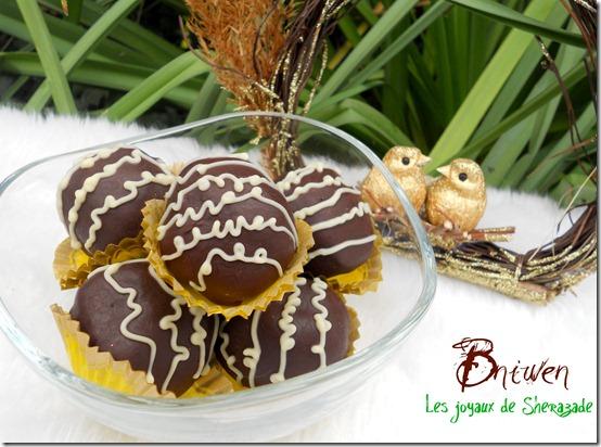 Bniouen - gâteau algérien sans cuisson