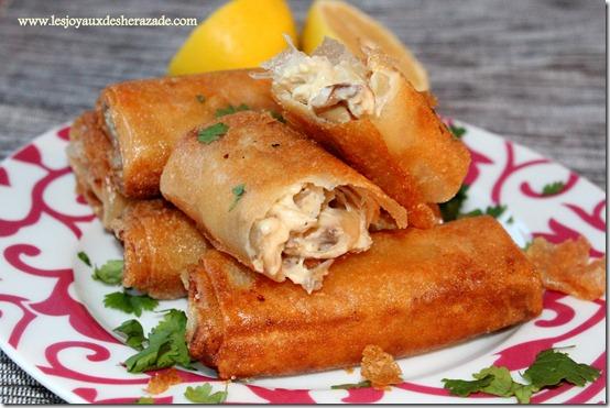 Bourek poulet-champignons à la béchamel