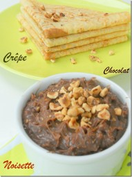 crepe au chocolat et noisettes