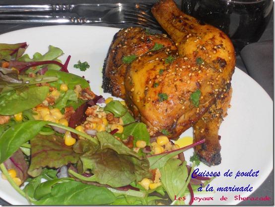 Cuisses de poulet marinées au four