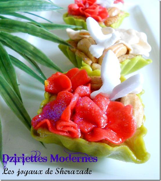 Les dziriettes modernes à la noix de cajou, gâteau algérien