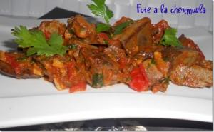 foie à la sauce tomate