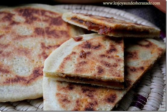 Galette kabyle / recette de kesra farcie