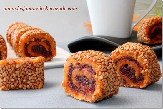 Gâteau algérien / roulés aux dattes