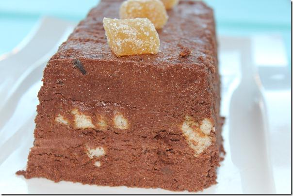 Dessert terrine fondante chocolat-gingembre