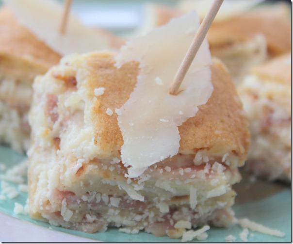 Crêpes salées : gâteau de crêpes au parmesan et au jambon