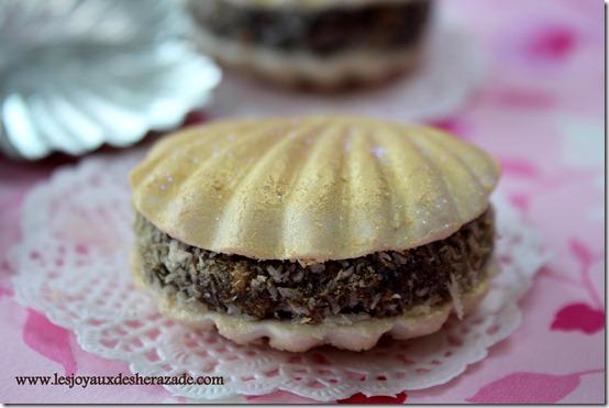 Gâteau algérien sans cuisson / coquillage