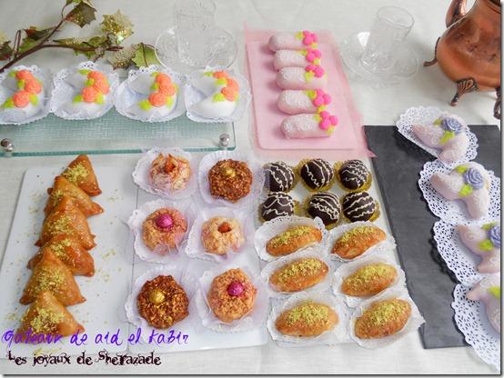 Gâteaux algériens traditionnels réalisés à l'occasion de l'aïd el Kabîr