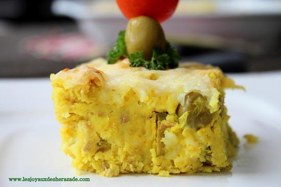 Tajine tunisien / pommes de terre - thon