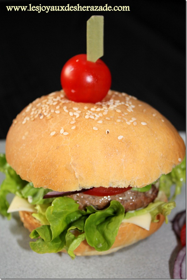 Recette de hamburger / hamburger 100% maison
