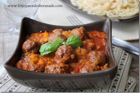 Boulettes de viande en sauce / Kofta Daoud Bacha