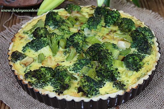Tarte aux brocolis & poireaux
