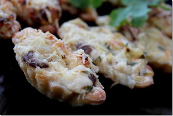 Mini tartelettes poulet-champignons