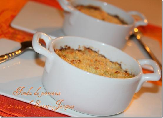 Noix de Saint-Jacques , fondue de poireaux