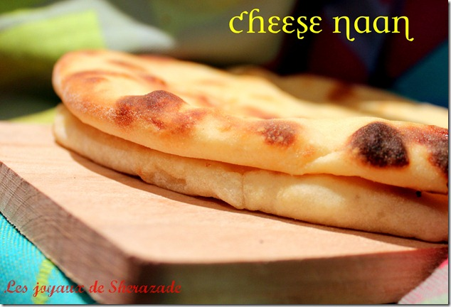Cheese naan, pain indien au fromage facile