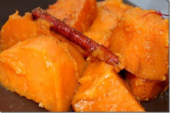 Patates douces aux épices
