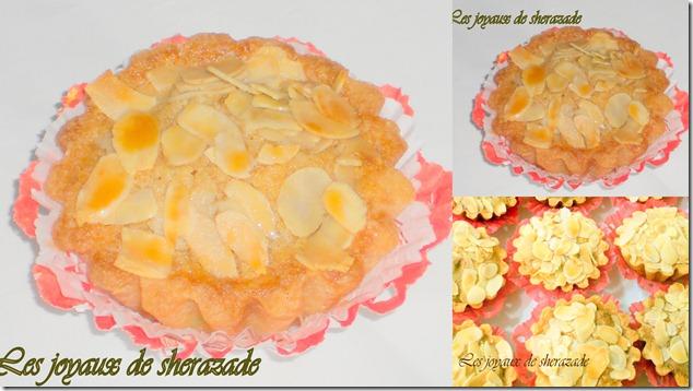 Amandines (tartelette frangipane, amandes effilées)