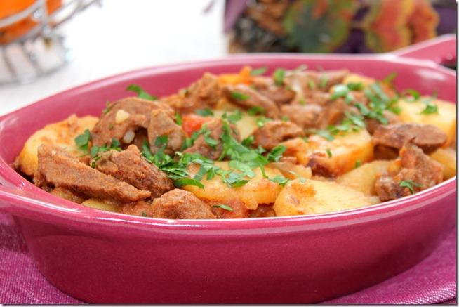 Plat au four -émincé de bœuf aux pommes de terre-