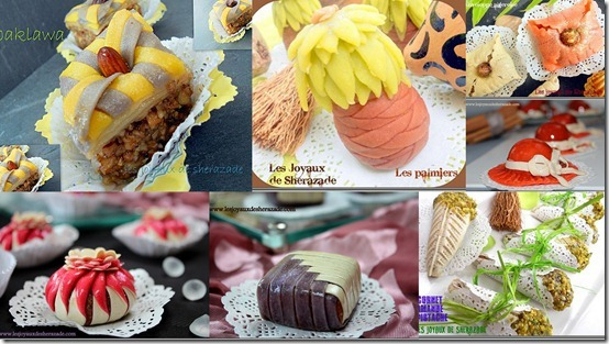 Gâteaux algériens / préparation et coloration de la pâte pour gâteaux au miel en photos