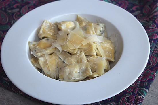 Ravioli maison saumon/fromage