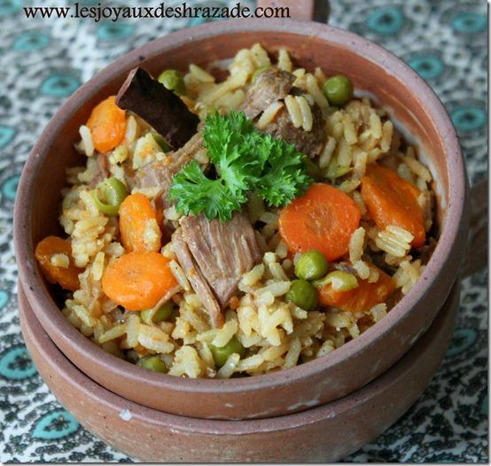 recette au riz, plat unique