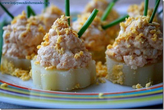 Canapés de pommes de terre