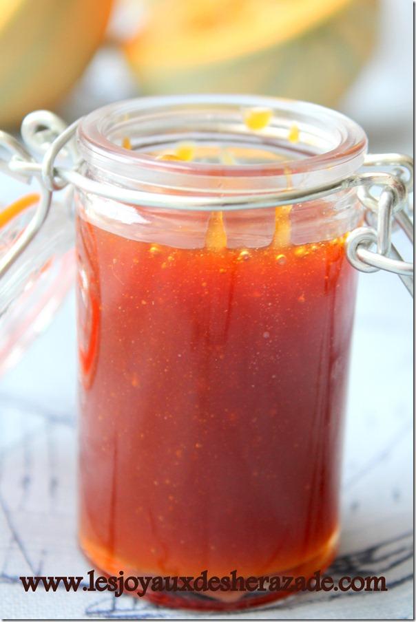 Recette caramel / saveur melon