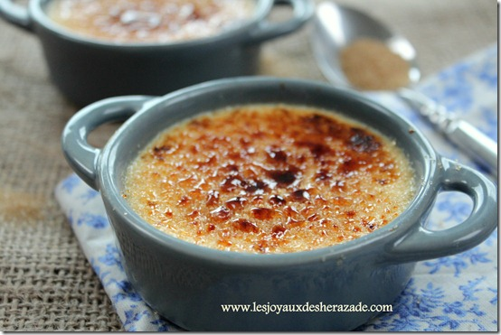 Crème brulée , recette facile
